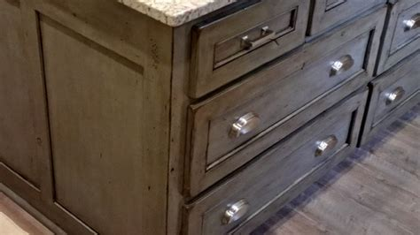 Driftwood Kitchen Cabinets Driftwood Distressed Finish Traditional Kitchen Houston By Custom Cabinetry