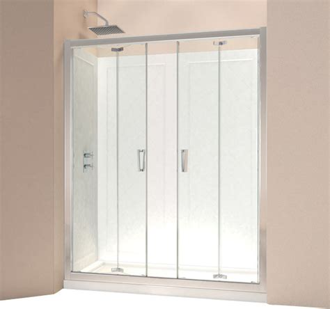 Shower Bifold Doors Dreamline Butterfly Frameless Bi Fold Shower Door And Slimline 30 Quot By Contemporary Shower