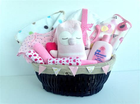 Gift From Baby - pink baby gift basket great gifts