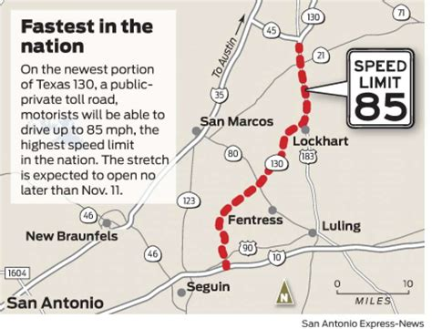 texas speed limit map can t drive 55 on texas 130 you soon can go at 85 mph san antonio express news