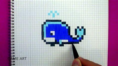 Como Desenhar Uma Baleia Ol 224 Pixel Art Youtube