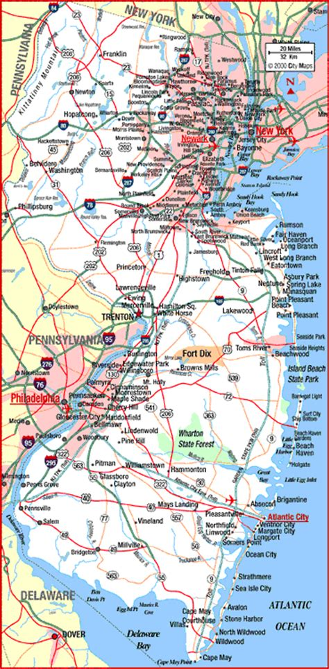 america map new jersey map of new jersey america maps map pictures
