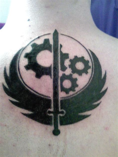 brotherhood of steel tattoo brotherhood of steel by mysterynigma on deviantart