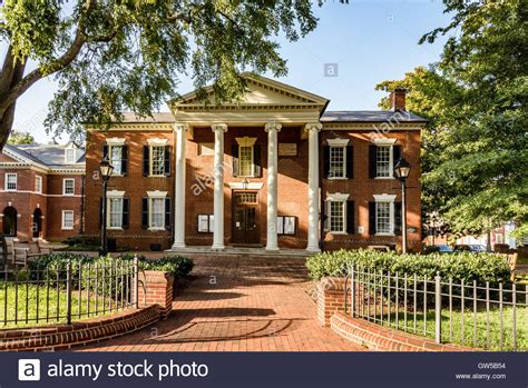 Albemarle County Court Records Albemarle County Courthouse Court Square Charlottesville Virginia Stock Photo