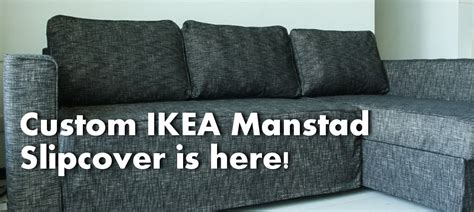 ikea manstad sofa cover manstad sofa bed slipcover in nomad black comfort works