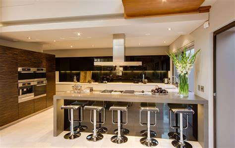 small white kitchen with steel hood modern kitchen decoration using modern ceiling stainless