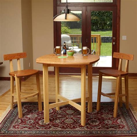 wood pub table and chairs pub table and chairs woodworking plan from wood magazine