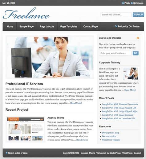 themes wordpress cms studiopress freelance cms wordpress theme dobeweb