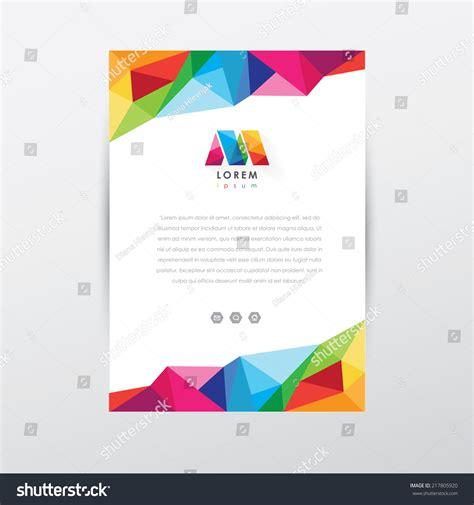 flyer design logo vector flyer design template letterhead colorful stock