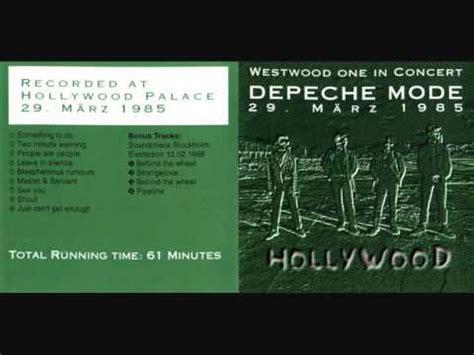 depeche mode shout depeche mode shout live hollywood 1985 youtube