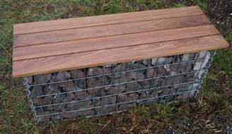 Build Your Own Garden Bench Build Your Own Gabion Benches Garden Design With Gabions