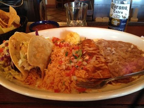 Combo Plate Crispy Tacos Rice Refried Beans Enchilada El Torito Lunch Buffet Menu