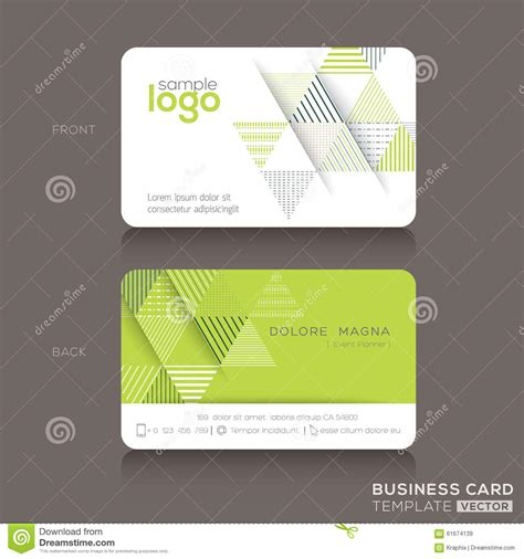 modern trendy business card design template stock vector