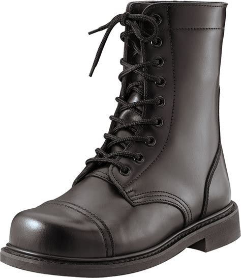 black leather tactical steel toe combat boots ebay