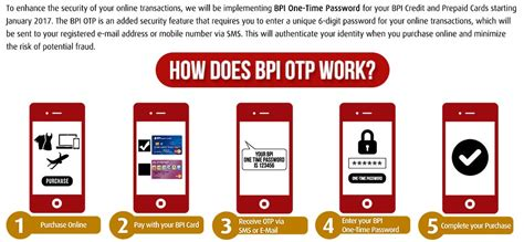 how to make advance in bpi credit card bpi one time password otp