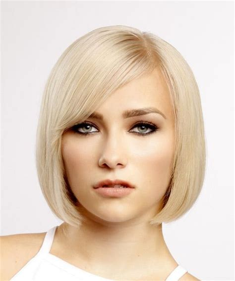 evening hairstyles for a bob short straight formal bob hairstyle light blonde hair