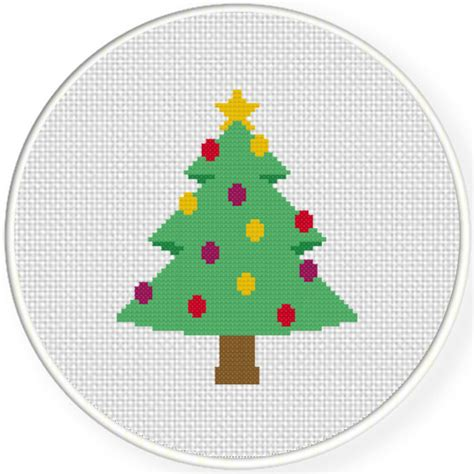 decorative christmas tree cross stitch pattern daily