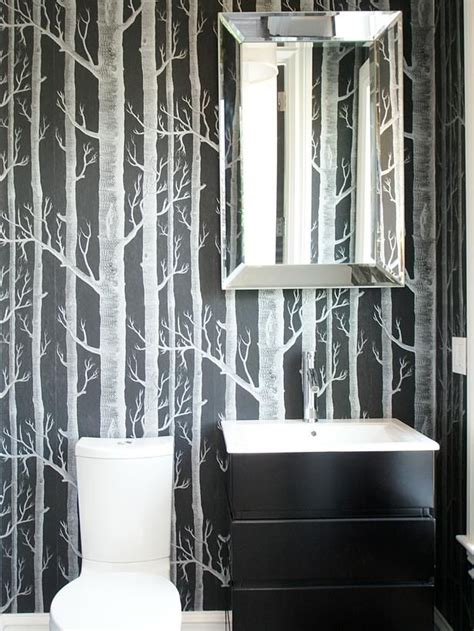 wallpaper for bathroom ideas 12 black and white bathrooms small bathrooms wallpapers and bathroom