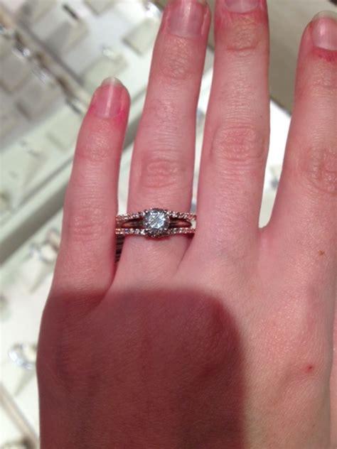 Rose Gold Ring: Rose Gold Ring And Diamond Enhancers Jared