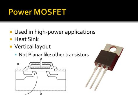 mosfet transistor high voltage ppt transistors powerpoint presentation id 775002