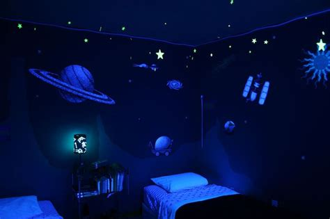space themed bedroom outer space wall sticker decals for boys room wall mural boys space theme and dark