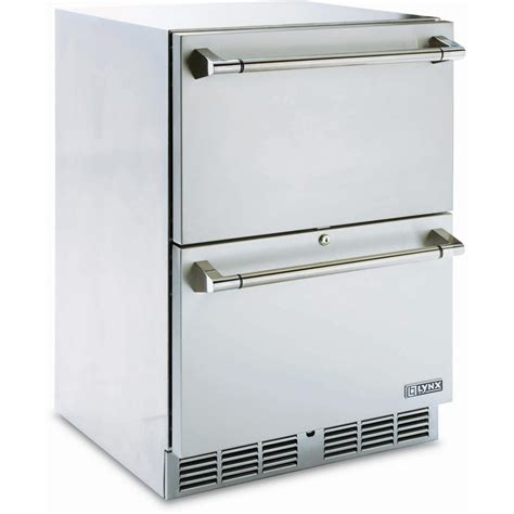 fridge drawer replacement canada lynx 24 inch compact refrigerator two drawer bbq guys