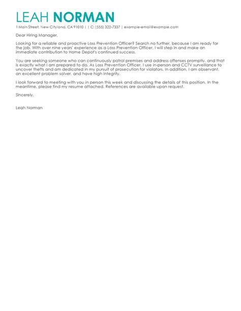 best loss prevention officer cover letter exles