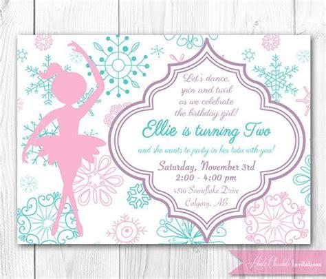 printable ballerina birthday invitations ballerina birthday search and birthdays on pinterest