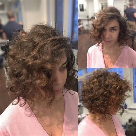Soft Curl Hairstyles by S Angled Bob With Large Soft Curls And Side
