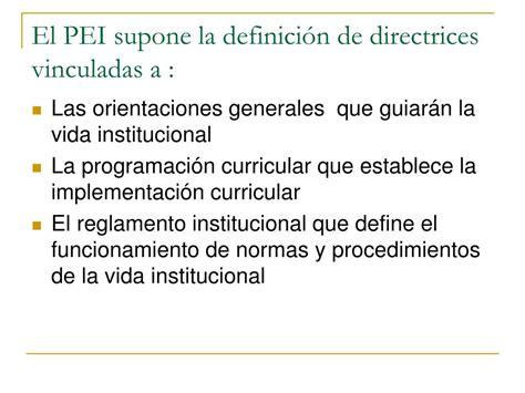 Diseño Curricular Institucional Definicion Ppt Proyecto Educativo Institucional Powerpoint Presentation Id 585557