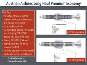 austrian airlines battles with new premium economy cabin