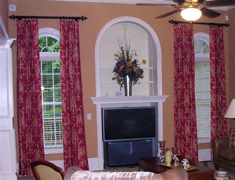 traditional window treatments living room window treatments traditional living room atlanta by dianne s custom window bed