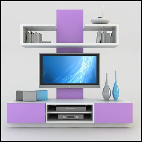 tv wall unit modern design x 19 3d models cgtrader com