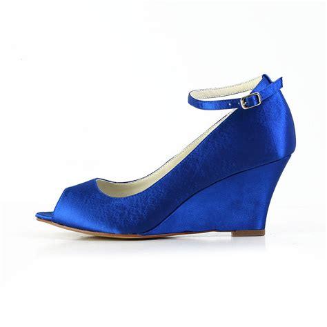 s satin wedge heel wedges peep toe shoes with buckle