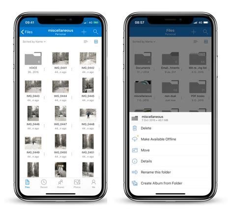 onedrive  ios updated  redesigned interface drag