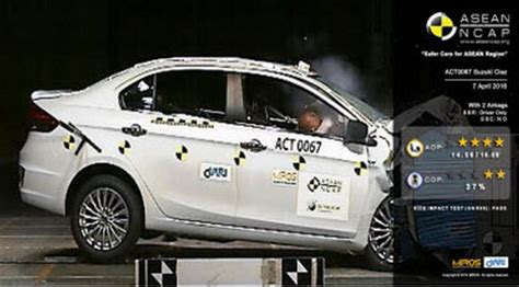 Suzuki Crash Test Suzuki Ciaz And Ertiga Four In Asean Ncap