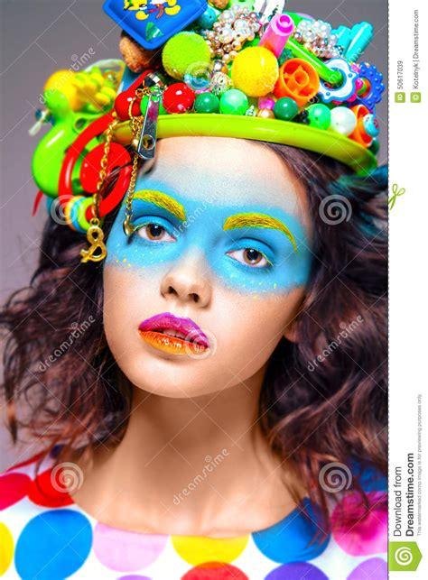 creative pop with creative pop makeup stock illustration