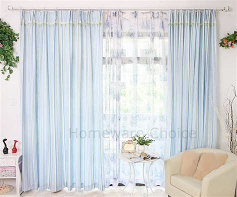 blue green striped curtains 2 x eyelet curtain panels green blue stripe curtains