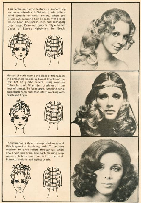 1816 best images about vintage hair howtos on hair setting pattern bottom patterns 70s hair and hair style