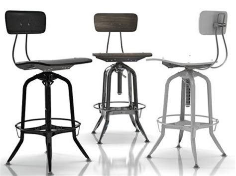 toledo bar chair vintage toledo bar chair 3d modell restoration hardware