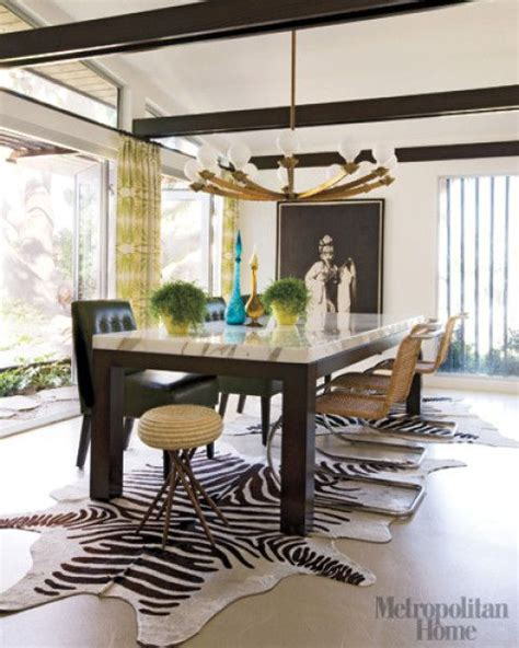 Zebra Dining Room Two Zebra Cowhides The Table Dining Rooms