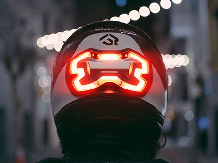 Motorradhelm Led by Helmet Brake Light
