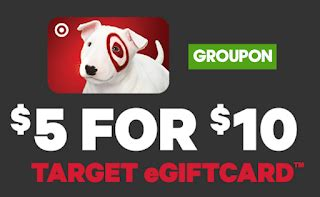 5 For 10 Target Gift Card - 10 target gift card for only 5 select groupon accounts heavenly steals