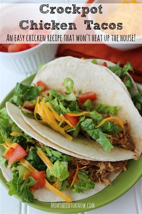 crockpot chicken tacos more easy healthy recipes