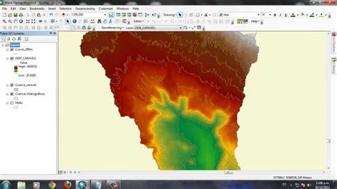crear layout en arcgis c 243 mo hacer una cuenca hipsogr 225 fico en arcgis parte 1 youtube