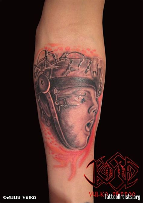 clockwork orange tattoo 25 edgy orange clockwork tattoos designs