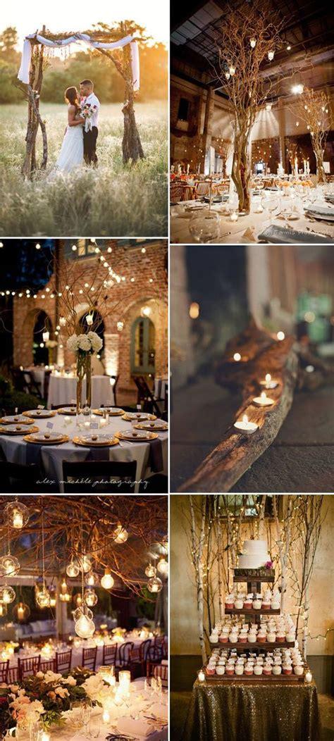 genius ideas  incorporate wood   wedding
