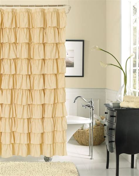 Country Chic Shower Curtains Ruffled Shower Curtains Shabby Chic Homes And Shower Curtains On Pinterest