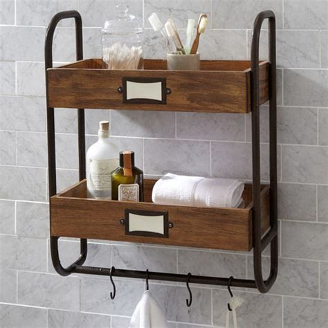 wooden bathroom towel rack shelf iron bathroom towel rack hanging kitchen shelf antique