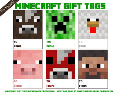 printable minecraft label just peachy designs free printable minecraft gift tags